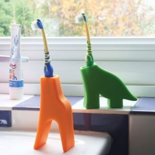Giraffe & Dinosaur Toothbrush Holders