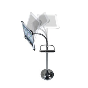 Pedestal Stand for iPad 2/3/4 with Roll Holder