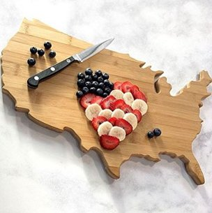 USA Shaped Vegetable Cutting Board