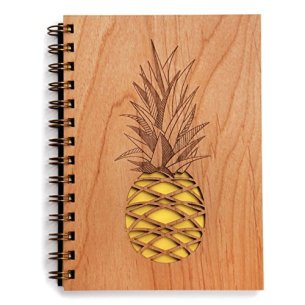 Pineapple Lasercut Wood Journal