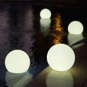 Solar Powered Floating Globe Led Light