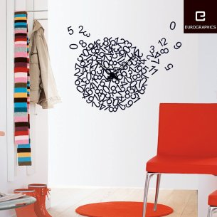 Time Art Sticker Wall Clock