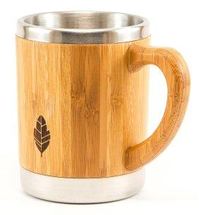 Stainless Steel Bamboo Mug