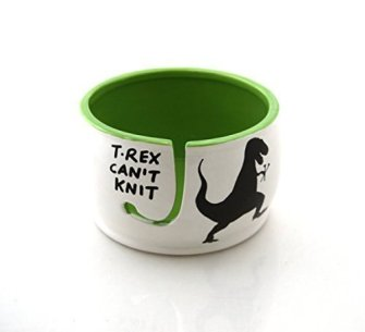 T-Rex Yarn Knitting Bowl