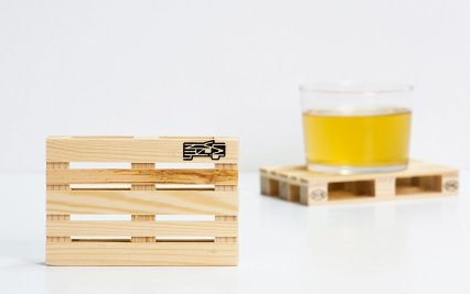 Palette-it: Set of 5 Design Pallet Coasters