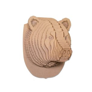 Cardboard Bear Taxidermy Art 3D Model Puzzle