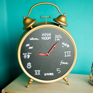 Vintage Decorative Metal Table Clock