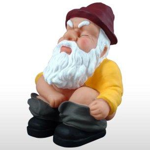 Squatting Garden Gnome