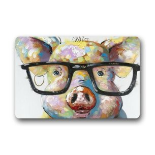 Cute Little Pig Custom / Outdoor Washable Doormat