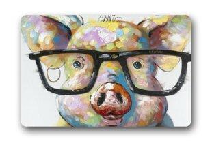 Cute Little Pig Custom / Outdoor Washable Doormat