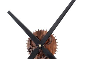 Wall Clock Color Black + Wood