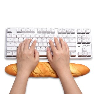 Keyboard & Mouse Bread Shaped Wrist Rest Pad