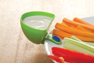A Little Cup That Clips To Your Plate For Easy Dipping