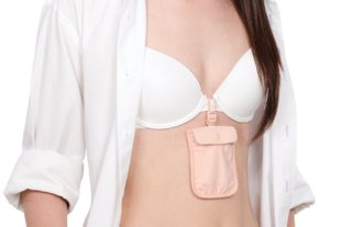 Pouch That Clips Onto Your Bra To Keep Valuables Safe And Hidden