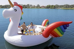 Giant Unicorn Pool Float