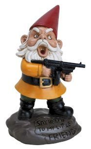 Angry Gnome Statue