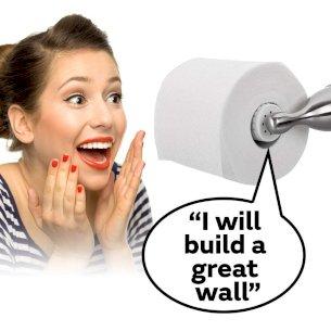Donald Trump Talking Toilet Paper Roll