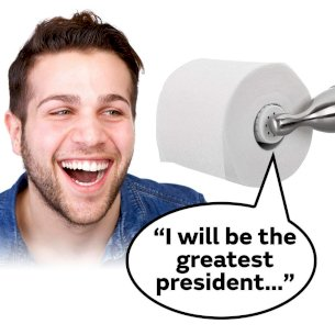 Donald Trump Talking Toilet Paper Roll
