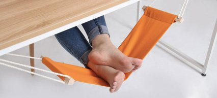 Under-Desk Hammock For Your Feet Is the Best