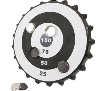 Magnetic Bottlecap Dart Board