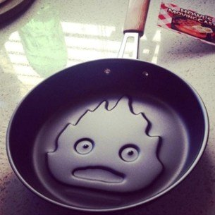 Howl's Moving Castle Calcifer Frying Pan