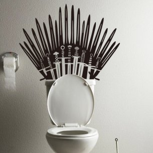 Game of Throne Iron Throne Toilet Decal Sticker