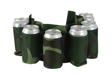 Camo Beer Belt, Holds 6 Cans or Bottles