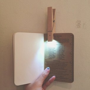 Book Light Clothespin