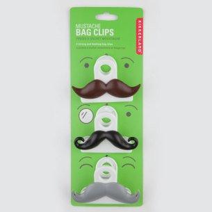 Mustache Bag Clips